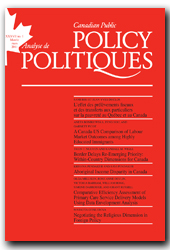 Canadian Public Policy journal cover