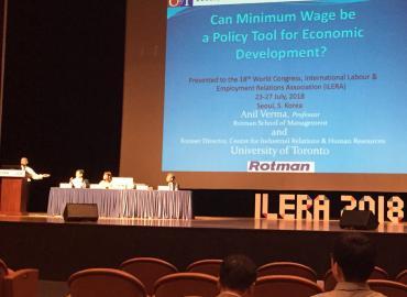 Anil Verma presents at ILERA