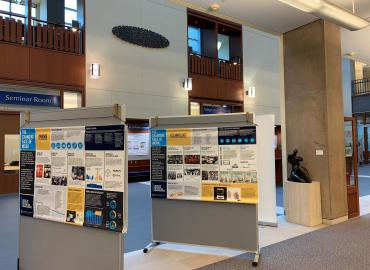 changing face of work exhibit on display at queens stauffer library