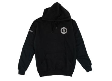 black sweatshirt with the CIRHR crest
