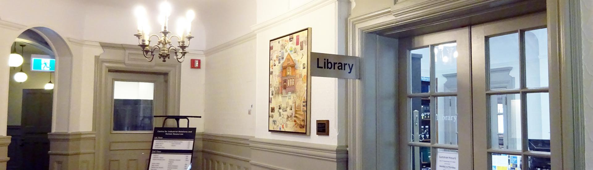 photo of the entrance to the CIRHR library